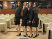 Our hostesses enjoying posing for us at the end of a day's work